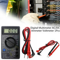 Digital LCD Multimeter AC DC Voltage Current Tester Resistance Meter Voltmeter #