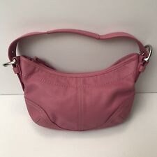 COACH #9541 Authentic Small Soho Pink Leather Shoulder Hobo Retail - $299