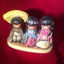 "DeGrazia ""WEE THREE"" Goebel Figurine 6.5"" Long; Retired;Made in  Germany"