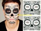 2 Day Of The Dead Dia de los Muertos temporary tattoo Black Zombie Unisex