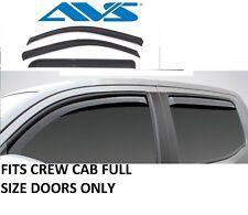 Rain Guards In-Channel Window Vent Visor 14-18 for Silverado Sierra crew Cab