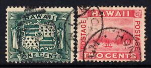 1899 Hawaii #80-81 used lot H