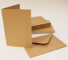 "Pack of 30 Blank Natural Kraft Cards and Envelopes 300 gsm 4 "" x 4"""