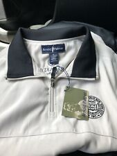 Arnold Palmer Golf Windbreaker Vest 1/4 Zip XL Off White and Black Logo
