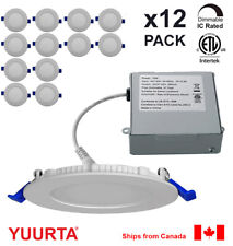 YUURTA (12-pack) 4 Inch Pot Light 10W Recessed Ceiling LED Downlight Dimmable