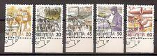 Schweiz 1987, Nr. 1340-1344, Freimarken: Postbeförderung., gestempelt, used