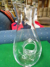 Beautiful Unusual Unique Shape Crystal Art Glass VASE ...Made in Poland.....SALE