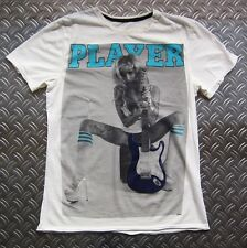 AMPLIFIED Chaud PIN UP JOUEUR Rocker Tattoo Mariée Vintage imprimé T-Shirt 36/M