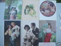 4095 6 Kitsch Ak Amor Parejas 6PC Amor Alrededor De 1910