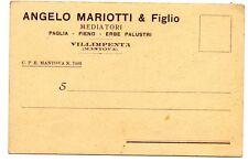 MARIOTTI & F VILLIMPENTA MANTOVA PAGLIA FIENO ERBE PALUSTRI ORTICOLTURA 1934