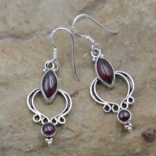 Garnet Earrings Sterling Silver 925 Earring Ear Jewelry Rotdamen Adr