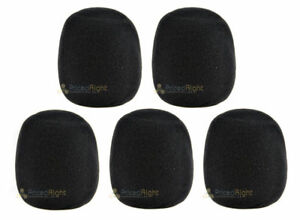 5 Pack High Quality Microphone Windscreen Filter 5 Black Covers USA