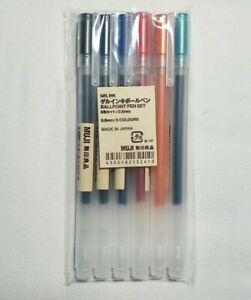 NEW Muji Gel Ink Ballpoint Pens 0.5mm Set - US SELLER - FAST FREE SHIPPING 🚚