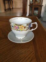Vintage Teacup And Saucer Tuscan Fine English Bone China.