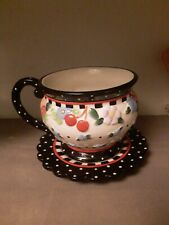 Mary Engelbreit 'Oh So Breit' Coffee Mug Tea Cup~Flowers & Cherries