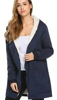 Misakia Women's Blue Parka Jacket Size XL Trim Collar Casual Insulated Warm New