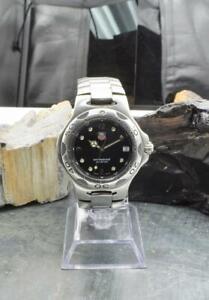 TAG Heuer Kirium Professional WL1112 Stainless Steel Quartz Black Dial Watch