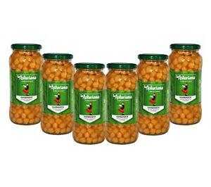 Spanish cooked chickpeas: Garbanzos 570g x 6