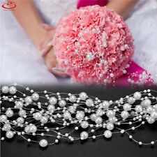 5M Wedding Pearl Acrylic Bead Plastic Garland Rope Wedding Party Decoration NEW