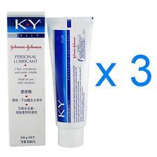 Johnson & Johnson KY K Y Jelly Personal Lubricant Vaginal Dryness Cream 100g x 3