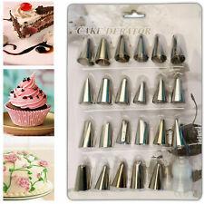 24 PIECES ICING NOZZLE TOOL SET PASTRY CAKE CUPCAKE SUGARCRAFT DECORATING
