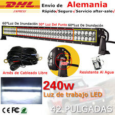 """42"""" 240W Flood&Spot LED Work Light Bar Off road Jeep Lamp 180w/300w 21800LM New"""