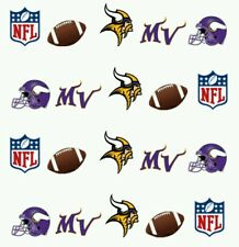 NFL Minnesota Vikings Nail art (water decals) Vikings nail decals