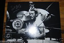 Ginger Baker signed 11x14 WOW- Autographed Cream Photo