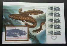 Sweden Freshwater Fish 1991 Fauna (booklet FDC) *recess effect *rare