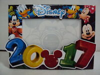 DISNEY 2017 MICKEY, MINNIE, PLUTO, DONALD & GOOFY PHOTO / PICTURE FRAME - NEW