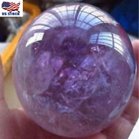 Natural Amethyst Quartz Sphere Big Pretty Crystal Ball Healing Purple Stone 1Pc
