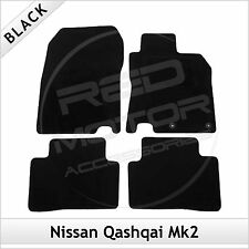 NISSAN QASHQAI Mk2 2014 onwards Tailored Fitted Carpet Car Floor Mats BLACk