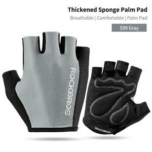 ROCKBROS Bike Half Finger Gloves Summer Breathable Shockproof Comfortable Gloves