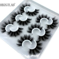 New 6 Pairs Top 3D 100% Mink Soft Long Thick Makeup Eye Lashes False Eyelashes