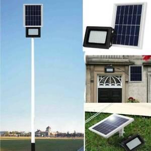 54 LED Solarleuchte Bewegungsmelder Solarlampe Solar-Panel Strahler Außenlampe