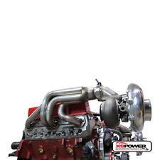 DUAL Turbo Headers Small Block Chevy SBC 350 400 CAMARO Pontiac Nova GM V8