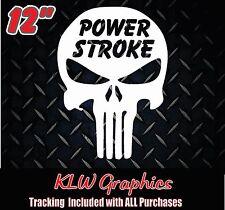 Powerstroke Skull * Vinyl Decal Sticker Diesel Trucks Crew Cab Stacks 2500 3500