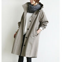 Fashion Women's Oversized Trench Hooded Long Coats Jacket Outwear Loose Casual