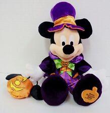 "Mickey Mouse 2008 Not So Scary Halloween Plush Walt Disney Parks Pumpkin 12"""