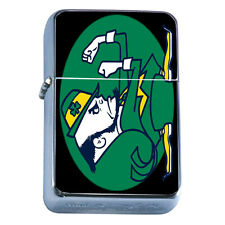 Windproof Refillable Flip Top Oil Lighter St Patricks Day D5 Irish Ireland