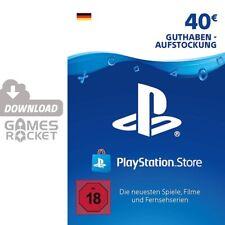 40€ PSN DE Playstation Network Code Card 40 Euro € EUR   PS4, PS3, Vita Guthaben