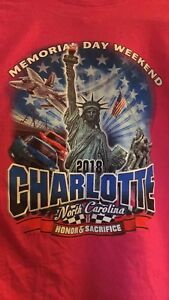 NASCAR Womens Size Large T-Shirt -Charlotte, NC 2018 Memorial Day Weekend Race
