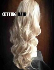 CUTTING HAIR Blonde Mix 3/4 Wig Long Curly Layered Half Wig Hairpiece 805-27/613