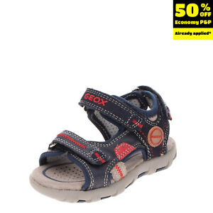GEOX RESPIRA Leather Sport Sandals Size 20 UK 3.5 US 4.5 Breathable Stitched