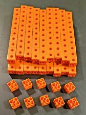 Learning Resources Connecting Counting Cubes Manipulatives Fine Motor 190 Orange