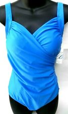 New Emerald Bay One Piece Blue Bathing Suit Swimsuit size 12 Large Retail
