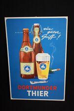 DORTMUNDER THIER Bier - Papp-Aufsteller Reklameschild - D um 1960