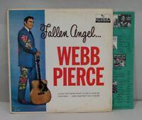 "Webb Pierce LP, ""Fallen Angel"", Decca, DL-4144, Vinyl Album, VG/VG, R-0096"