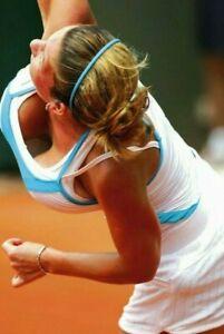 SIMONA HALEP sexy busty tennis player ~ 4x6 GLOSSY PHOTO ~ court candid (#2) HOT