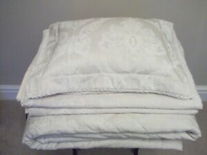 Dorma Aveline Jacquard Bedspread, Two Single Duvets. Two Oxford Pillowcases & Tw